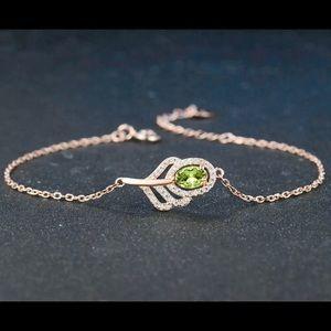 Peridot & Rose Gold Plated Bracelet 101150